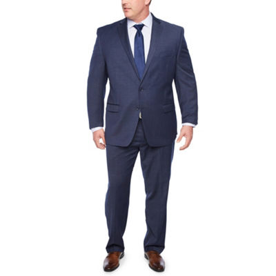 COLLECTION BY MICHAEL STRAHAN NAVY TIC SUIT BIG TALL