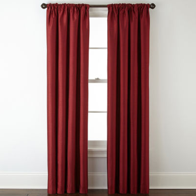 JCPenney Home Plaza Lined Blackout Rod-Pocket/Back-Tab Curtain Panel