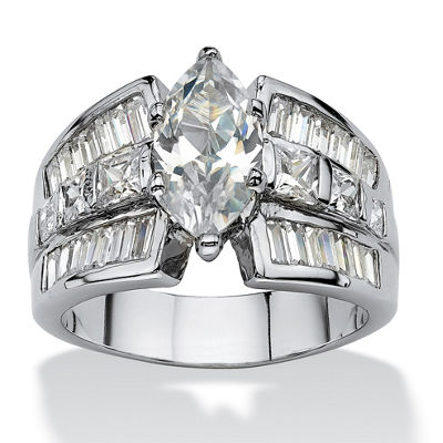 Diamonart Womens White Cubic Zirconia Engagement Ring
