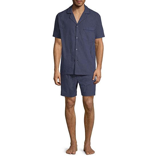 Stafford Mens 2-pc. Short Sleeve Pant Pajama Set