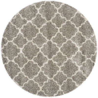 Safavieh Hudson Shag Collection Synthia Geometric Round Area Rug