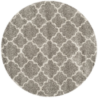 Safavieh Hudson Shag Collection Synthia GeometricRound Area Rug