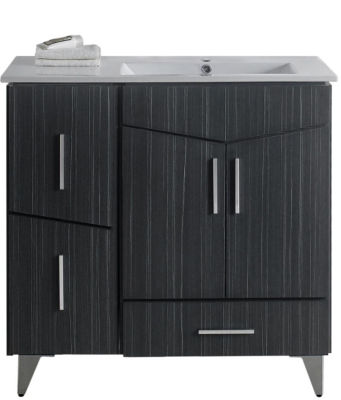 35.5-in. W Floor Mount Dawn Grey Vanity Set For 1Hole Drilling