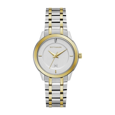 Wittnauer Womens Two Tone Bracelet Watch-Wn4103