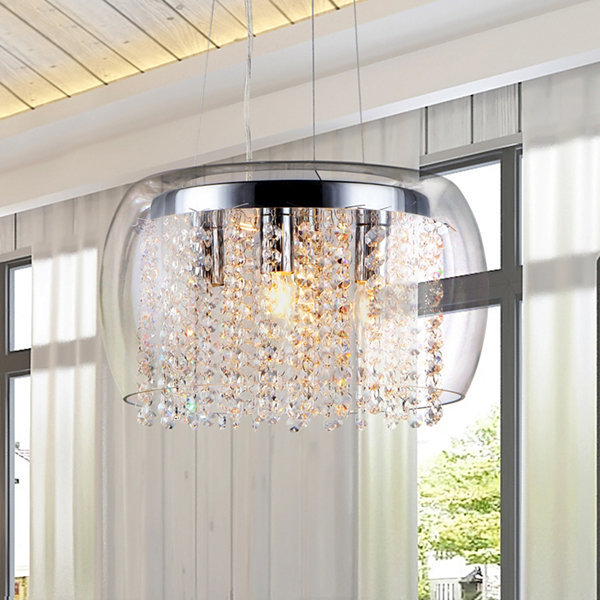 Warehouse Of Tiffany Nereids Chrome Chandelier