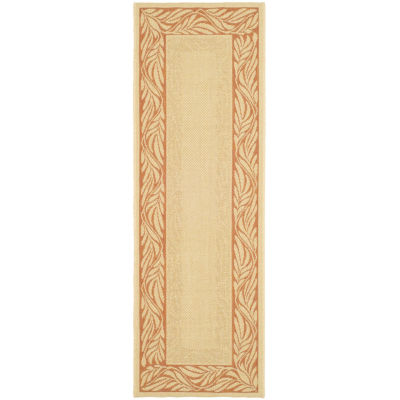 Safavieh Courtyard Collection Salena Oriental Indoor/Outdoor Runner Rug