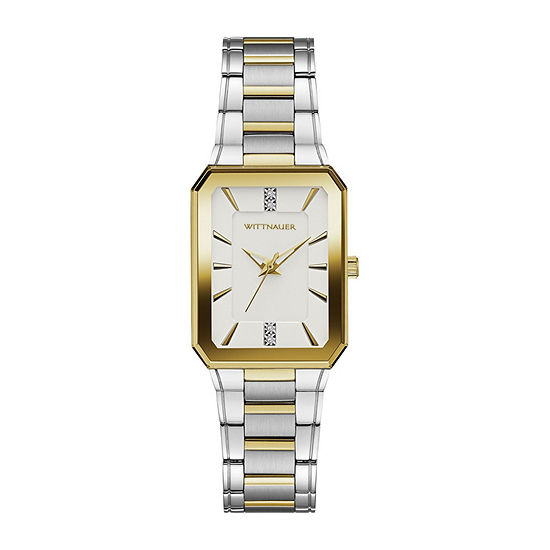 Wittnauer Womens Two Tone Bracelet Watch-Wn4105