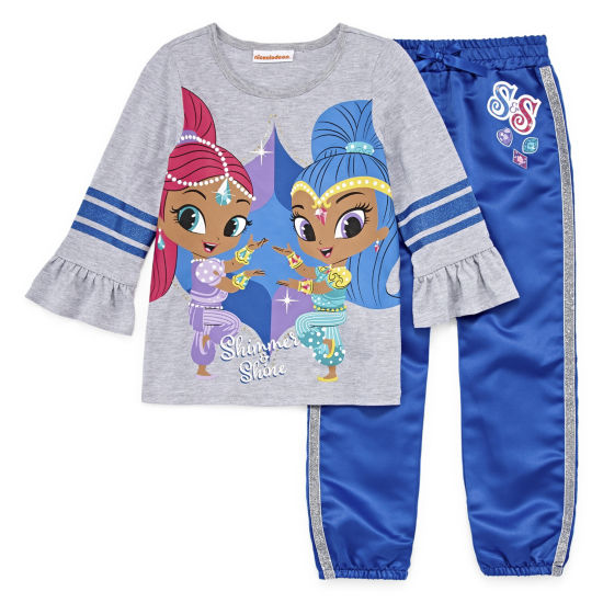 Shimmer And Shine 2-pc. Legging Set-Preschool Girls