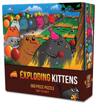 Exploding Kittens: Time To Pawty 500 Piece Puzzle