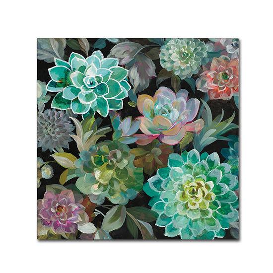 Trademark Fine Art Danhui Nai Floral Succulents v2Crop Giclee Canvas Art
