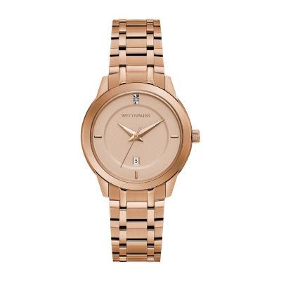 Wittnauer Womens Rose Goldtone Bracelet Watch-Wn4104