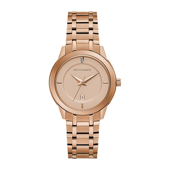 Wittnauer Womens Rose Goldtone Bracelet Watch-Wn4104