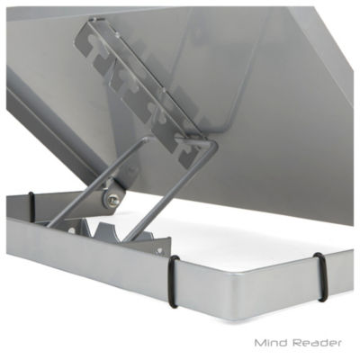 Mind Reader Metal Resting Document Holder Easel, Silver