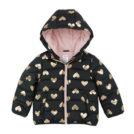 Carter's Hearts Puffer Jacket - Baby Girl