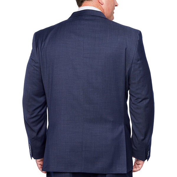 Collection by Michael Strahan  Navy Tic Suit Jacket-Big and Tall