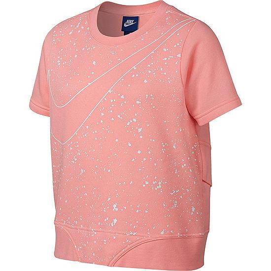 531c5895cac6 Nike Short Sleeve Cropped Swoosh Sweatshirt - Girls 7-16 - JCPenney