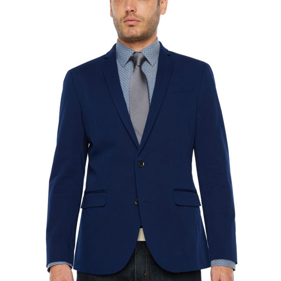 JF J.Ferrar 360 Everyday Stretch Navy Super Slim Fit Sport Coat