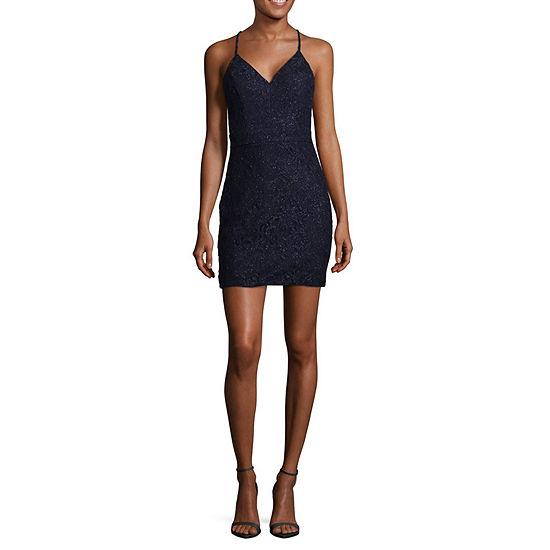 City Triangle-Juniors Sleeveless Midi Bodycon Dress
