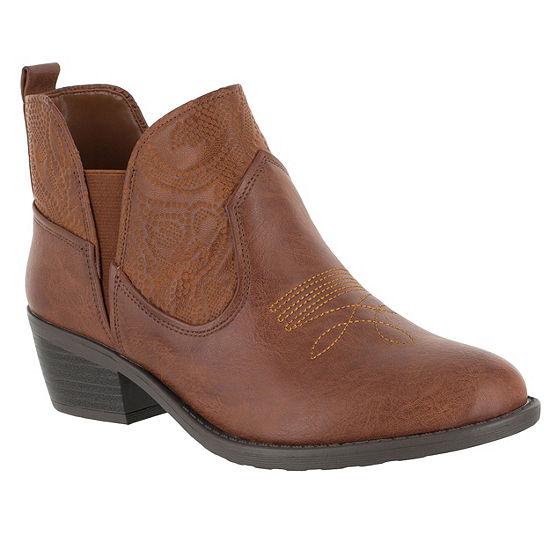 Easy Street Womens Legend Block Heel Booties