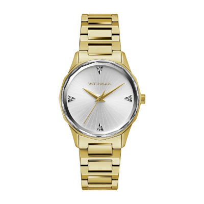 Wittnauer Womens Gold Tone Bracelet Watch-Wn4106