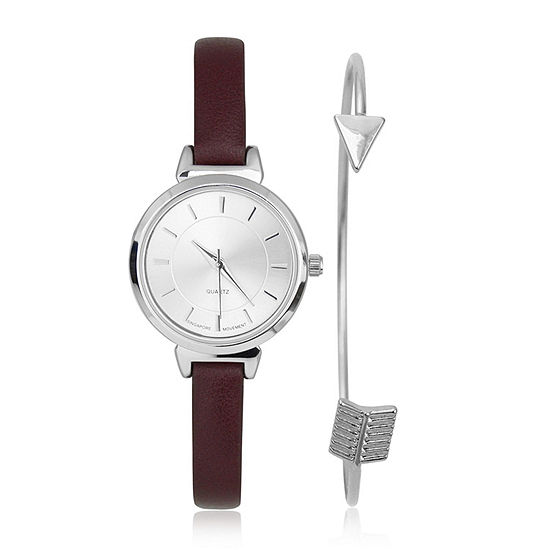 Mixit Womens Red 2-pc. Watch Boxed Set-Pt6249sl