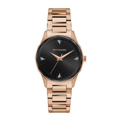 Wittnauer Womens Rose Goldtone Bracelet Watch-Wn4107