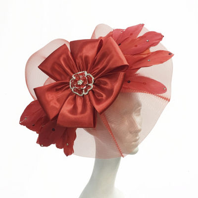 Whittall & Shon Feather Fascinator Derby Hat