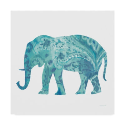 Trademark Fine Art Danhui Nai Boho Teal Elephant II Giclee Canvas Art