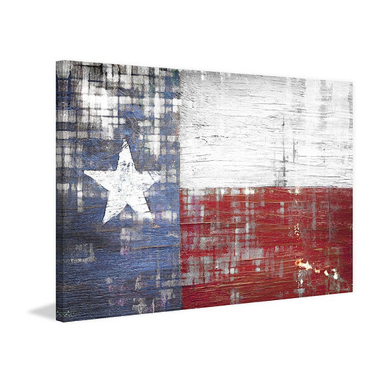 Texas Painting Print On Wrapped Canvas