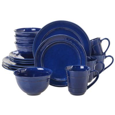 Certified International Orbit Blue 16-pc. Dinnerware Set