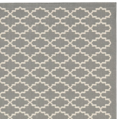 Safavieh Courtyard Collection Bora Geometric Indoor/Outdoor Area Rug