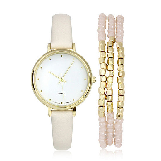 Mixit Womens Pink 2-pc. Watch Boxed Set-Pt5962gd