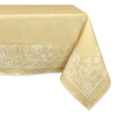 Design Imports Harvest Day Wheat Tablecloth