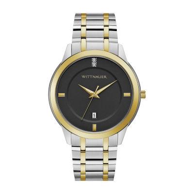 Wittnauer Mens Two Tone Bracelet Watch-Wn3089