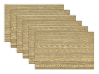 Design Imports Metallic Basketweave Placemat Set of 6