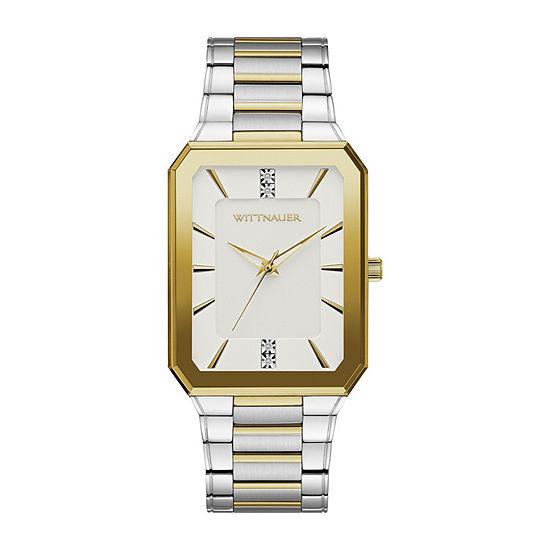 Wittnauer Mens Two Tone Bracelet Watch-Wn3093