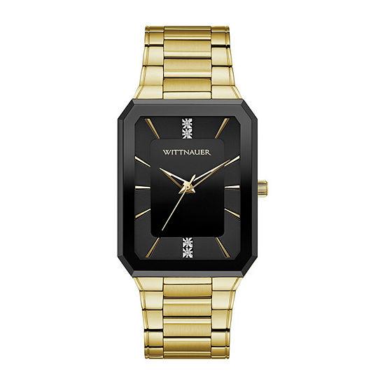 Wittnauer Mens Two Tone Bracelet Watch-Wn3092