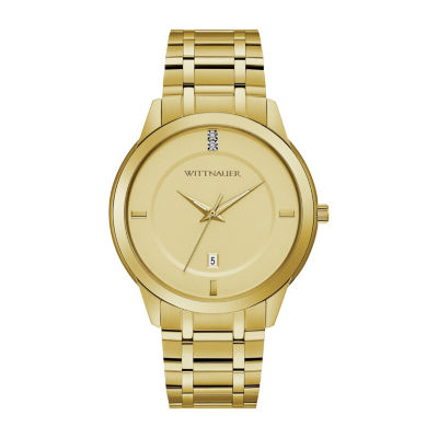 Wittnauer Mens Gold Tone Bracelet Watch-Wn3090