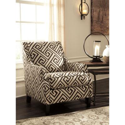 Signature Design By Ashley® Carlinworth Greek-Key Accent Chair