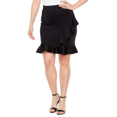 Bold Elements Ruffle Scuba Skirt