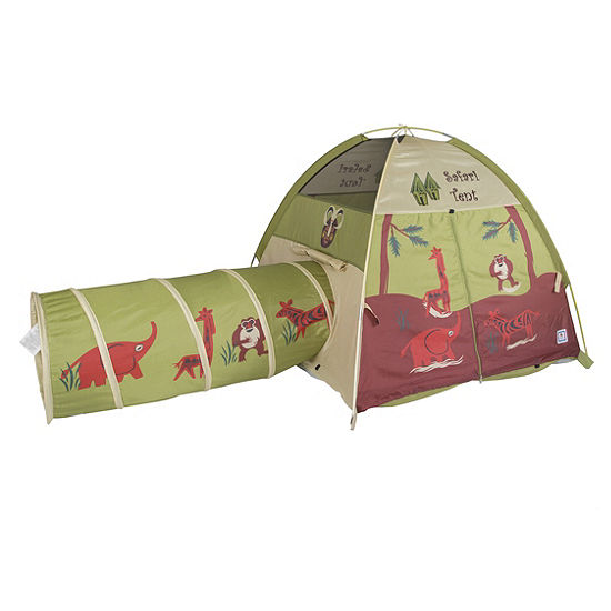 watch 8dab5 3dc41 Pacific Play Tents Jungle Safari Tent & Tunnel Combo