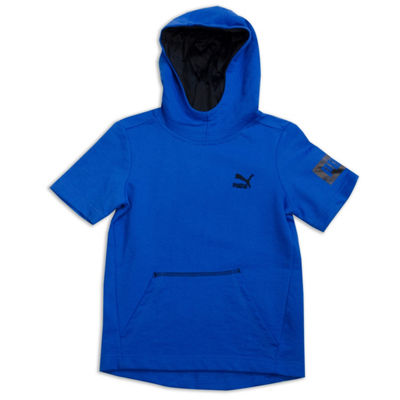 Puma Short Sleeve Hoodie-Big Kid Boys
