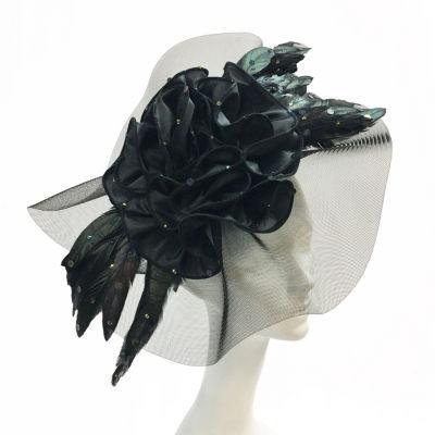 Whittall & Shon Feather Fascinator Derby Hat