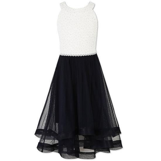 Speechless Girls Embellished Sleeveless Shift Dress Big Kid Plus