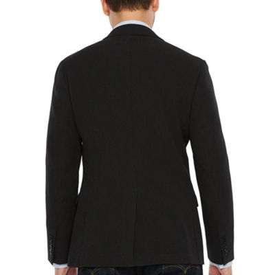 JF J.Ferrar 360 Everyday Stretch Charcoal Super Slim Fit Sport Coat