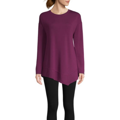 St. John's Bay Active Long Sleeve High-Low Hem Tee - Tall