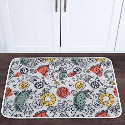 Tayse Exotic Fruit Novelty Anti-Fatigue Comfort Kitchen Mat