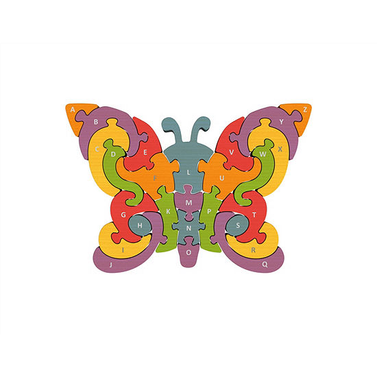 Beginagain Toys Butterfly A-Z Wooden Puzzle