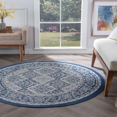 Tayse Oxnard Traditional Oriental Round Area Rug