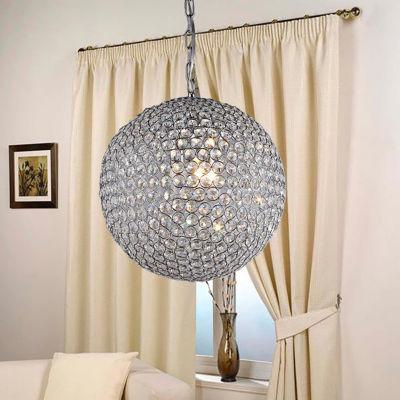 Warehouse Of Tiffany Jasmine 2-light Round Crystal 10-inch Chrome Chandelier